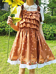 abordables -Mujer Bonito Casual/Diario Verano T-Shirt Falda Trajes,Con Tirantes Estampado Manga Corta