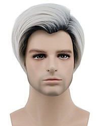 cheap -Gray Men's Capless Halloween Wig Celebrity Wig Party Wig Cosplay Wig Short Synthetic Hair