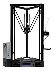 cheap -Anycubic  Pulley Version Unassemble Delta Rostock 3D Printer Kossel Kit Large Print Size with Heatbed and Power Supply