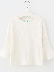 Girls' Solid Blouse,Wool Winter Fall Long Sleeve White Blushing Pink