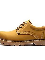 Homme Chaussures Daim Printemps Automne Confort Oxfords Lacet Pour Décontracté Jaune Brun Foncé Kaki