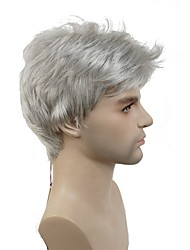 cheap -Synthetic Wig White Men's Capless Natural Wigs Short Short Synthetic Hair