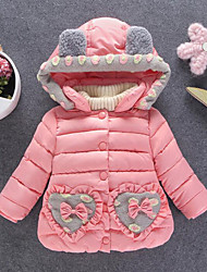 Girls' Patchwork Down & Cotton Padded,Polyester Winter Long Sleeve