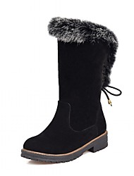 cheap -Women's Shoes Leatherette Spring Winter Fashion Boots Boots Chunky Heel Round Toe Mid-Calf Boots Polka Dot For Wedding Office & Career