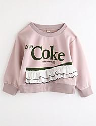 cheap -Girls' Print Blouse,Cotton Fall Long Sleeve Blushing Pink