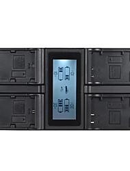andoer lp-e6 lp-e6n lp-e17 4 canaux chargeur de batterie de l'appareil photo numérique w / affichage lcd pour canon / rebel