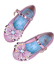 cheap -Girls' Shoes Sparkling Glitter Spring / Fall Comfort / Novelty Flats Bowknot / Buckle for Purple / Blue / Pink / Wedding
