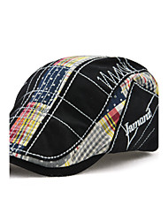 cheap -Men's Cotton Beret Hat Floppy Hat,Vintage Casual Windproof Keep Warm Patchwork All Seasons Embroidered
