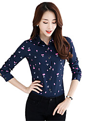 cheap -Women's Work Plus Size Blouse Print Shirt Collar
