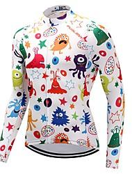 Maglia da ciclismo Unisex Manica lunga Bicicletta Maglietta/Maglia Asciugatura rapida 100% poliestere Vello A quadri Di tendenza Inverno