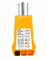 110-125 Volt AC 3 Prong Receptacle Wall Outlet Circuit Tester With Indicator Lights For Households.