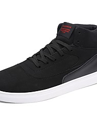 cheap -Men's Shoes PU Spring Fall Comfort Sneakers Lace-up For Casual Black Coffee Light Brown