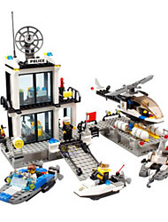 Building Blocks Toys Police Police Station Architecture Classic Kids Boys Boys' 536 Pieces