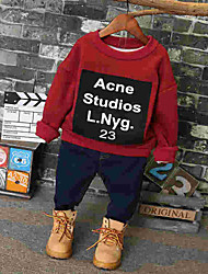 cheap -Girls' Other Blouse, Cotton Winter Fall Long Sleeves Red Yellow
