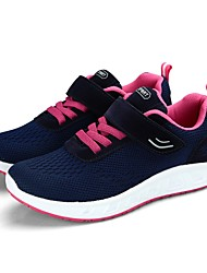 Women's Shoes Tulle Spring Fall Comfort Athletic Shoes Walking Shoes Flat Heel Round Toe Magic Tape For Casual Light Grey Dark Blue Black