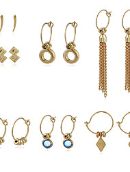 Women's Drop Earrings Hoop Earrings Fashion Personalized Rhinestone Alloy Jewelry For Gift Street