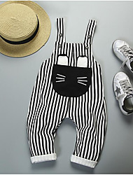 Boys' Stripes Pants,Polyester Fall Black