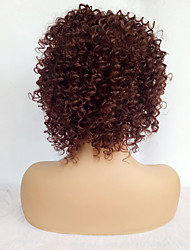 cheap -Afro Machine Made Human Hair Wigs For Black Women Short Brown