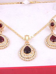 cheap -Women's Cubic Zirconia Jewelry Set - Cubic Zirconia Include Red For Wedding Party