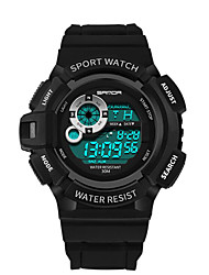cheap -Men's Digital Watch Wrist watch Unique Creative Watch Japanese Digital Calendar / date / day Water Resistant / Water Proof Stopwatch