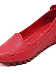 cheap -Women's Shoes Microfibre Spring Fall Moccasin Loafers & Slip-Ons For Casual Almond Red Gray Black