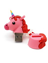 64 gb usb 2.0 de dibujos animados caballo unicornio usb unidad flash disco lindo memoria stick pen drive regalo pen drive