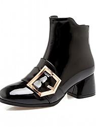baratos -Mulheres Sapatos Courino / Couro Ecológico Outono / Inverno Conforto / Inovador / Curta / Ankle Botas Salto Robusto Ponta quadrada Botas