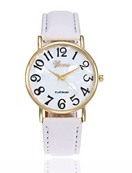 cheap -Men's Women's Wrist watch Fashion Watch Quartz Casual Watch Leather Band Charm Black White Blue Red Brown Pink Purple Yellow Khaki Rose