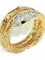 abordables -Femme Strass Strass Serpent Bracelets - Or Argent Bracelet Pour Soirée Scène