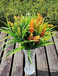 preiswerte -4pcs Kunststoff unschädlich künstliche grüne lila Borstengras Kräuter Pflanze