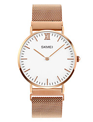 cheap -SKMEI Men's Quartz Wrist Watch Japanese Casual Watch Stainless Steel Band Charm Silver / Rose Gold