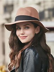 preiswerte -Damen Kopfbedeckung Herbst Baumwolle Baumwollmischung Schlapphut,Solide Reine Farbe Schwarz Kamel