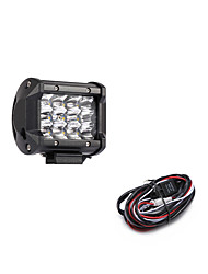 cheap -36W 3600LM 6000K 3-Rows LED Work Light Cool White Spot Offroad Driving Light for Car/Boat/Headlight IP68 9-32V DC  2m 1-To-1 Wiring Harness Kit