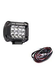 Недорогие -36w 3600lm 6000k 3-рядный светодиодный фонарь для работы с холодным белым пятном внедорожника для автомобиля / лодки / фары ip68 9-32v dc