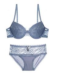 5/8 cup Bras & Panties Sets,Push-up Lace Bras Padded Bras Underwire Bra Cotton Nylon