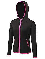 cheap -Women's Running Jacket Long Sleeves Anatomic Design Breathability Stretchy Sweatshirt Hoodie for Running/Jogging Camping / Hiking Cycling