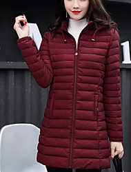 cheap -Women's Down Coat,Cute Casual Sports & Outdoor Sports Solid-Cotton Long Sleeves