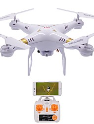 billiga -RC Drönare X51-W 4 Kanaler 6 Axel 2.4G Med HD-kamera 1.0MP 1080P*720P Radiostyrd quadcopter LED Lampor / Retur Med Enkel Knapptryckning / Felsäker Radiostyrd Quadcopter / Fjärrkontroll / USB kabel