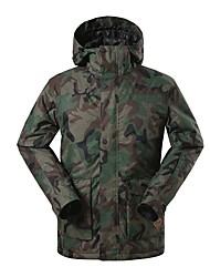 cheap -GSOU SNOW Men's Ski Jacket Warm Waterproof Windproof Wearable Breathability Skiing Ski/Snowboarding Eco-friendly Polyester Silk Cloth