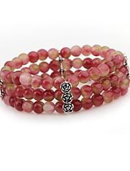 economico -Per donna Braccialetti del filo Dell'involucro del braccialetto Cristallo Di tendenza Colorato Cristallo Tormalina imitazione Circolare