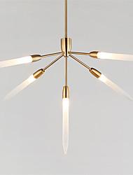 preiswerte -Nordeuropa post moderne kronleuchter 5 kopf acryl pendelleuchten wohnzimmer esszimmer g4 lampe basis