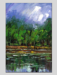 cheap -Hand-Painted Landscape Vertical Panoramic,Modern One Panel Canvas Oil Painting For Home Decoration