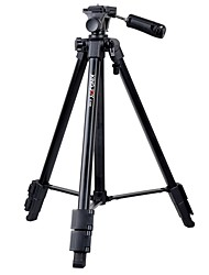 cheap -KINGJOY Universal lightweight Aluminum alloy material Black Tripod for Smartphone and DSLR