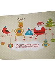Accessoire de Maison de Poupées Décorations de Noël Articles pour Célébrer Noël Jouets Costumes de père noël Elk Rectangle Vacances