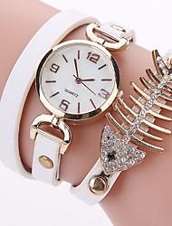 abordables -Femme Montre Décontractée Montre Tendance Bracelet de Montre Montre Diamant Simulation Chinois Quartz Imitation de diamant Polyuréthane