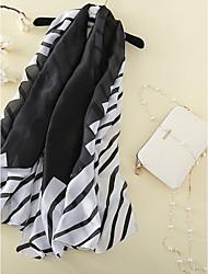 cheap -Women's Silk Rectangle Striped All Seasons