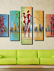cheap -LED Canvas Art Rustic,Five Panels Canvas Square Print Wall Decor For Home Decoration