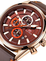 cheap -Men's Casual Watch Fashion Watch Chinese Quartz Chronograph Water Resistant / Water Proof Leather Band Luxury Casual Elegant Christmas