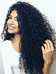 cheap -Kinky Curly Brazilian Human Hair Wigs Lace Front Wigs 8''-14'' 100% Virgin Human Hair With Natural Hairline With Baby Hair For Women
