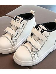 Мальчики обувь Дерматин Осень Зима Удобная обувь Кеды Назначение Повседневные Белый Черный Красный